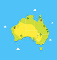 cartoon color australia continent concept travel vector image