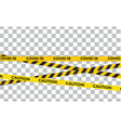 caution warning lines covid-19 virus danger signs vector image
