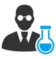 chemist flat icon vector image vector image