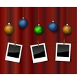 Christmas photo vector image vector image