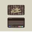 coffee voucher of member card template vector image vector image