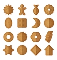 cookies of different shapes star vector image