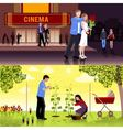 Couples People Flat Compositions vector image