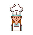 cute chef woman in uniform and hat character vector image