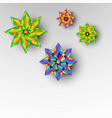 different colored ornamental vector image vector image