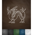 dragon icon Hand drawn vector image vector image