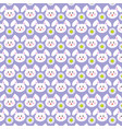 easter bunny faces pattern on purple vector image vector image
