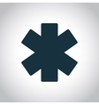 Emergency star icon vector image