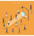 Employee search flat isometric concept vector image vector image