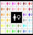 female sign felt-pen 33 vector image