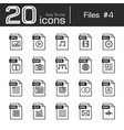 files icon set 4 vector image