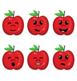 Fruit collection with face expression vector image vector image