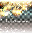 golden glitter particles with baubles background vector image vector image
