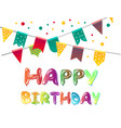 happy birthday greeting cards with balloon vector image vector image