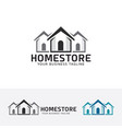 home store logo design vector image