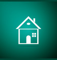 House icon on green background home symbol