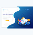 isometric analysis data and investment stack vector image
