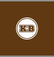 k b letter logo icon design vector image vector image