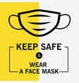 keep safe and wear face mask modern