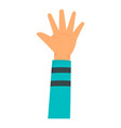kid hand icon flat style vector image