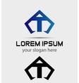 Letter T logo icon design template vector image