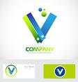 Letter V bubble logo vector image
