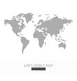 lines world map vector image vector image