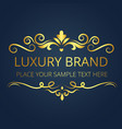 luxury brand vintage gold template design i vector image