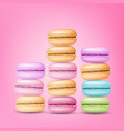 macarons set colourful sweet french vector image