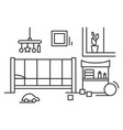 nursery icon comfortable room interior for baby