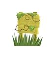 Old Wooden Sign Covered In Vegetation Jungle vector image vector image
