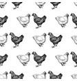 pattern drawn hens vector image vector image