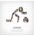 people sports curling vector image vector image