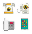 phone flat icons set vector image vector image