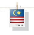 photo malaysia flag on white background vector image