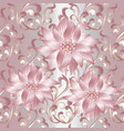 pink 3d flowers seamless pattern vector image vector image