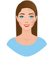 portrait of a beautiful woman with a plastic vector image