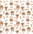 puppy pattern vector image vector image