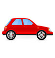 red car side view vector image
