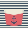 red pocket with anchor vector image