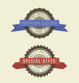 retro vintage badges set classic design elements vector image vector image