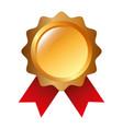 rosette award guarantee premium win icon vector image