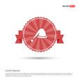 santa hat icon - red ribbon banner vector image vector image