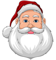 Santa Smiling Face front vector image vector image