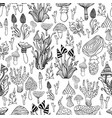seamless pattern with psychedelic mushroom black vector image vector image