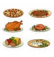 set food objects vector image