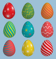 set of colourful easter eggs vector image vector image
