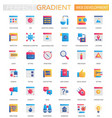 set of trendy flat gradient web development vector image