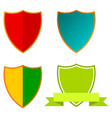simple award shield icon set vector image