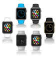 Smart watches wearable collection vector image